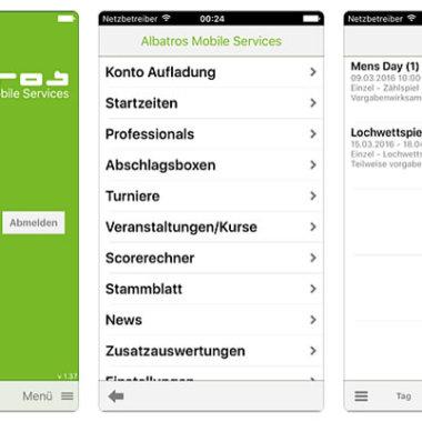 Albatros-App: Installation und Handbücher